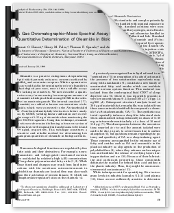 A gas chromatographic–mass spectral assay for the
